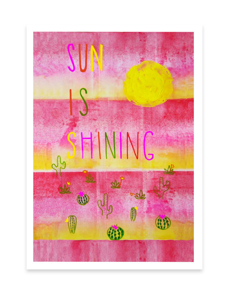 Foreignspell Sun is Shining Greeting Card