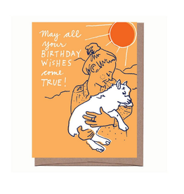 Birthday Wishes (Goat) Greeting Card