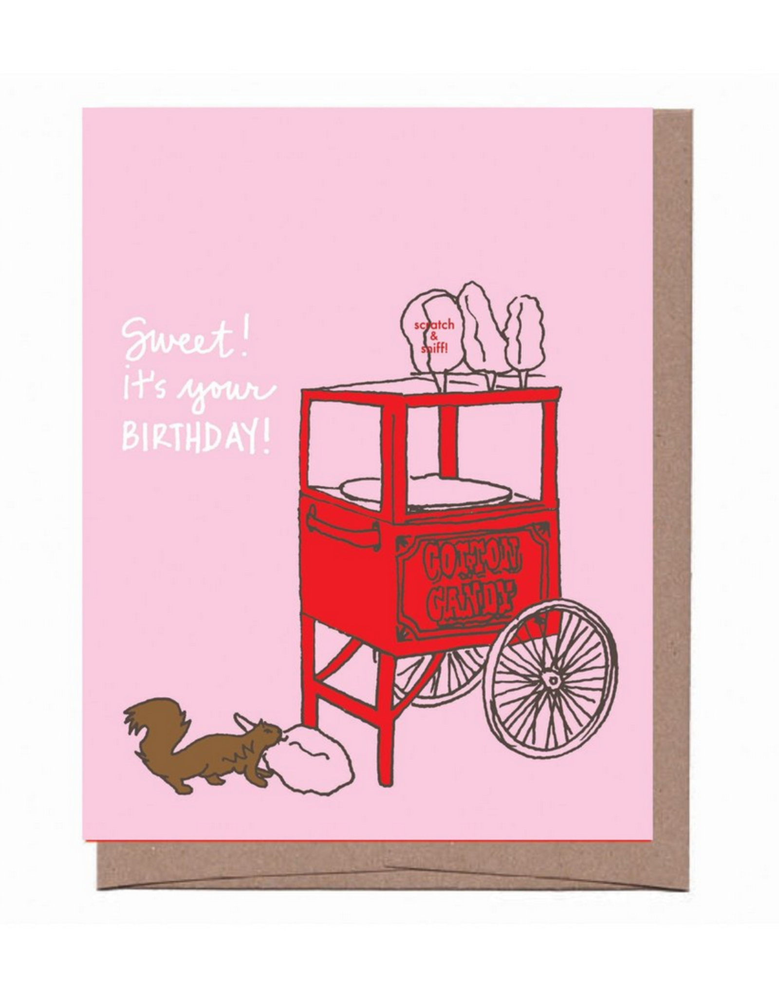 Scratch n Sniff Sweet Birthday Cotton Candy Greeting Card