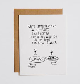 Happy Anniversary Sweetheart Greeting Card