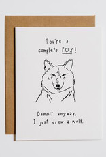 Mountain vs. Plains You're a Complete Fox Greeting Card