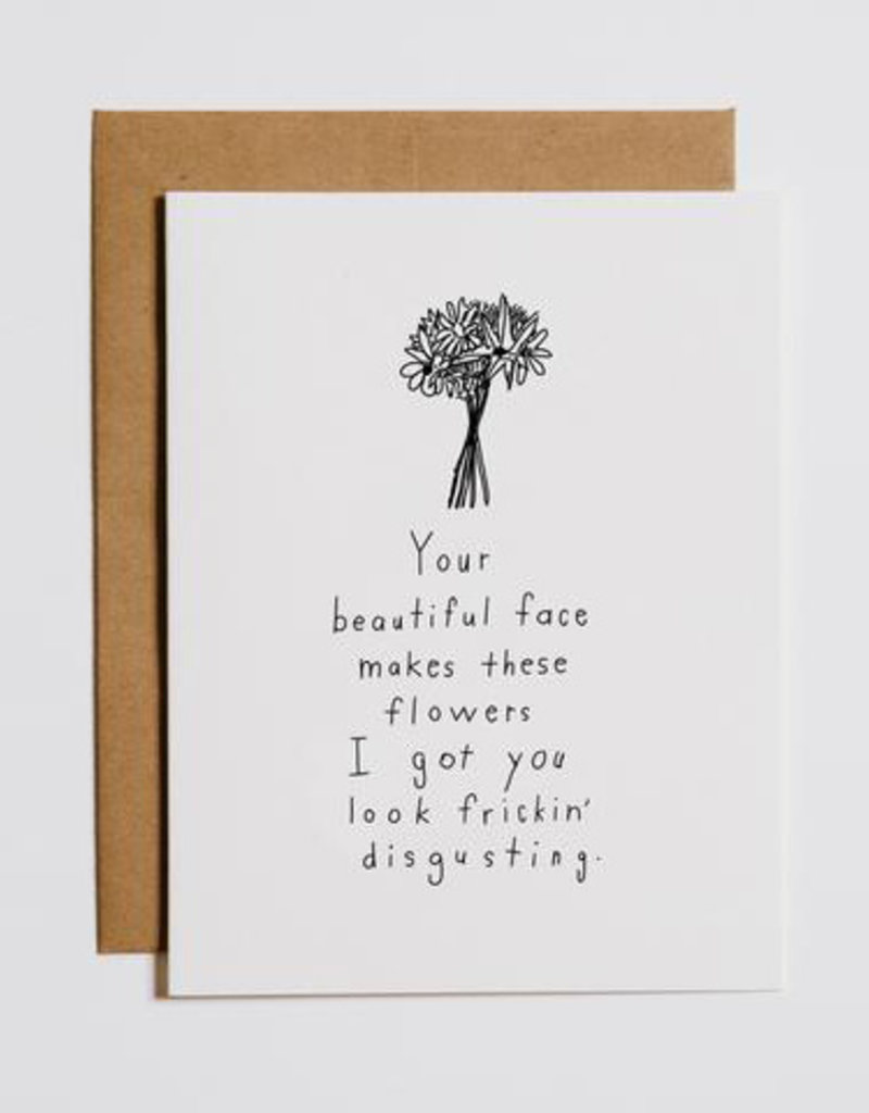 Mountain vs. Plains Your Beautiful Face... Flowers Greeting Card