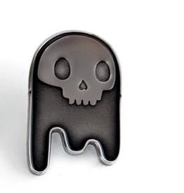 Brandy Bingham Nickel Ghost Enamel Pin