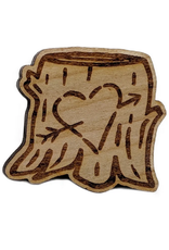 Brandy Bingham Carved Heart Stump Enamel Pin
