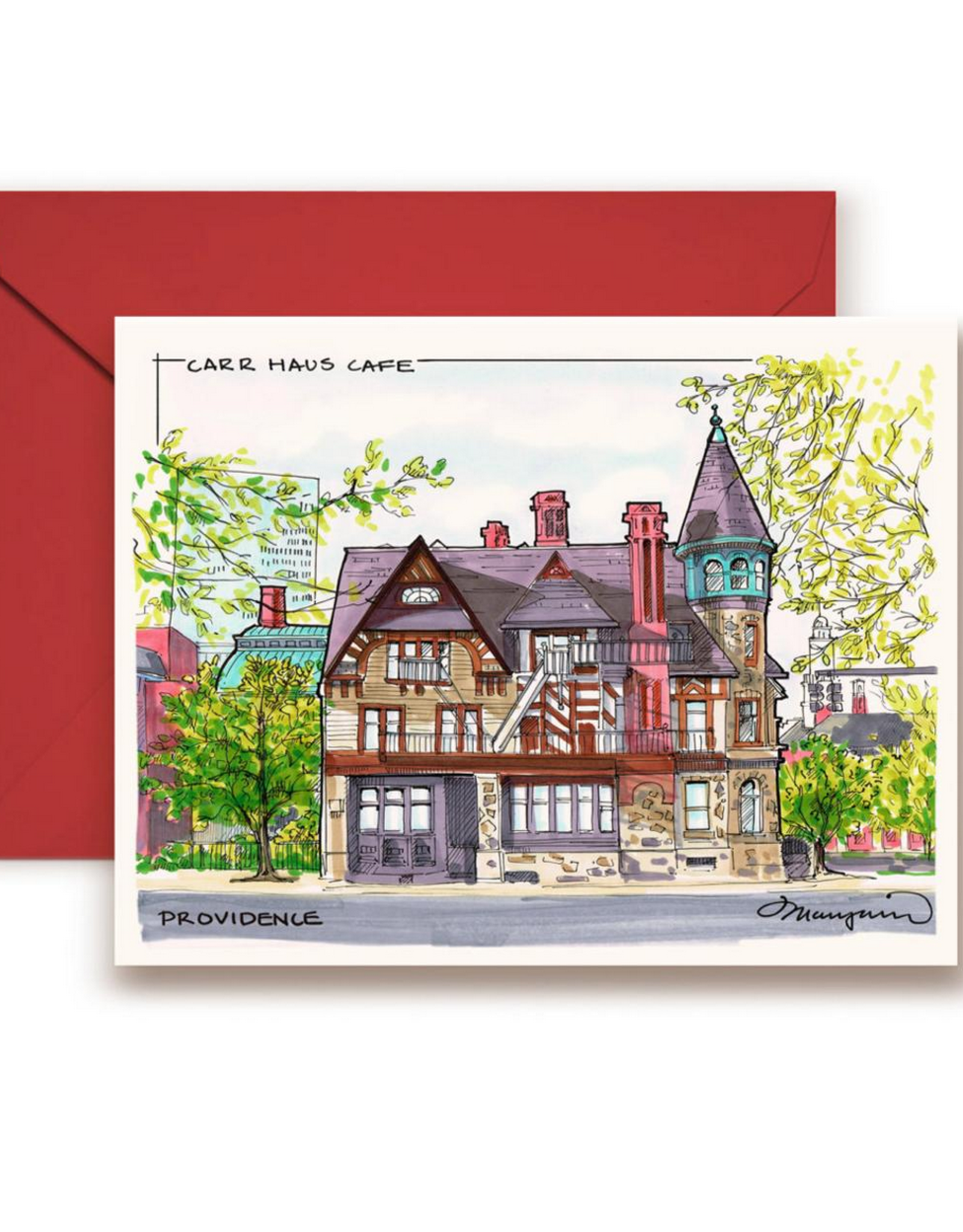 Carr Haus Greeting Card