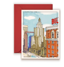 Maryann Fenton Industrial Trust Tower Greeting Card