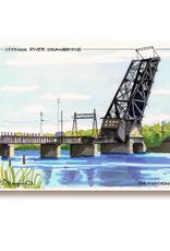 Maryann Fenton Seekonk River Bridge Framed Print