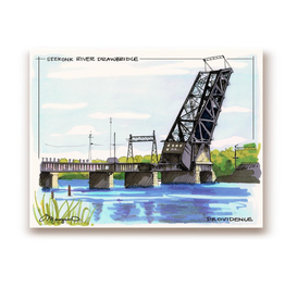 Maryann Fenton Seekonk River Bridge Framed Print