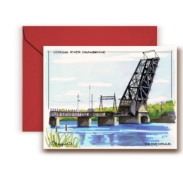 Seekonk River Bridge Greeting Card