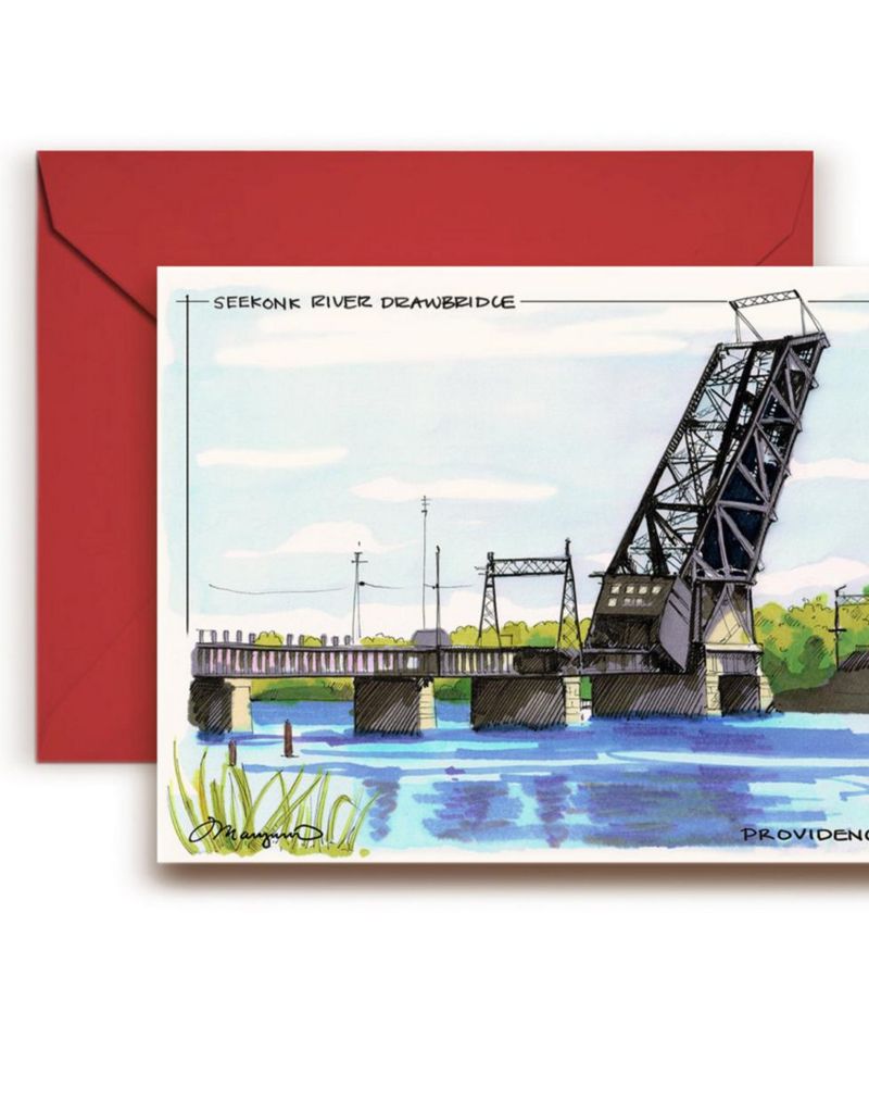 Maryann Fenton Seekonk River Bridge Greeting Card