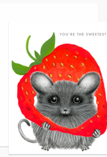 Dear Hancock You're the Sweetest Mouse Greeting Card