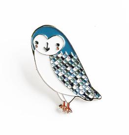 Gingiber Owl Enamel Pin