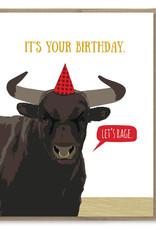 Let's Rage Birthday Greeting Card