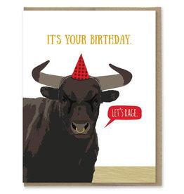 Modern Printed Matter Let's Rage Birthday Greeting Card