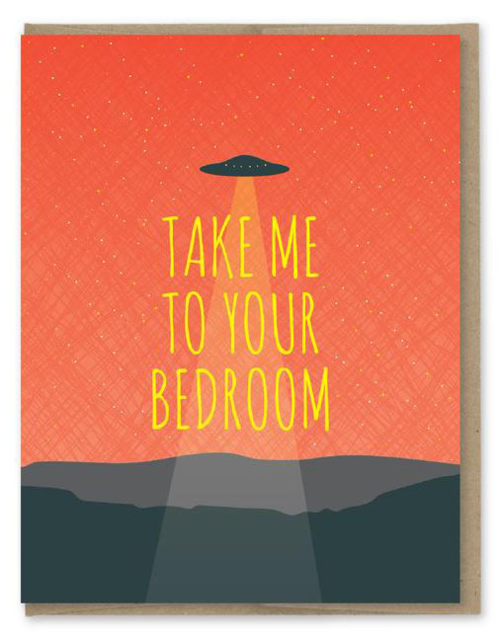 Modern Printed Matter Take Me to Your Bedroom UFO Greeting Card