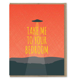 Take Me to Your Bedroom UFO Greeting Card