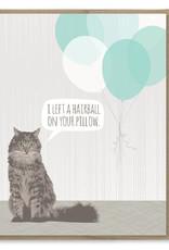 Hairball Birthday Greeting Card