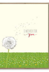 Modern Printed Matter Wished For You (Dandelion) Greeting Card
