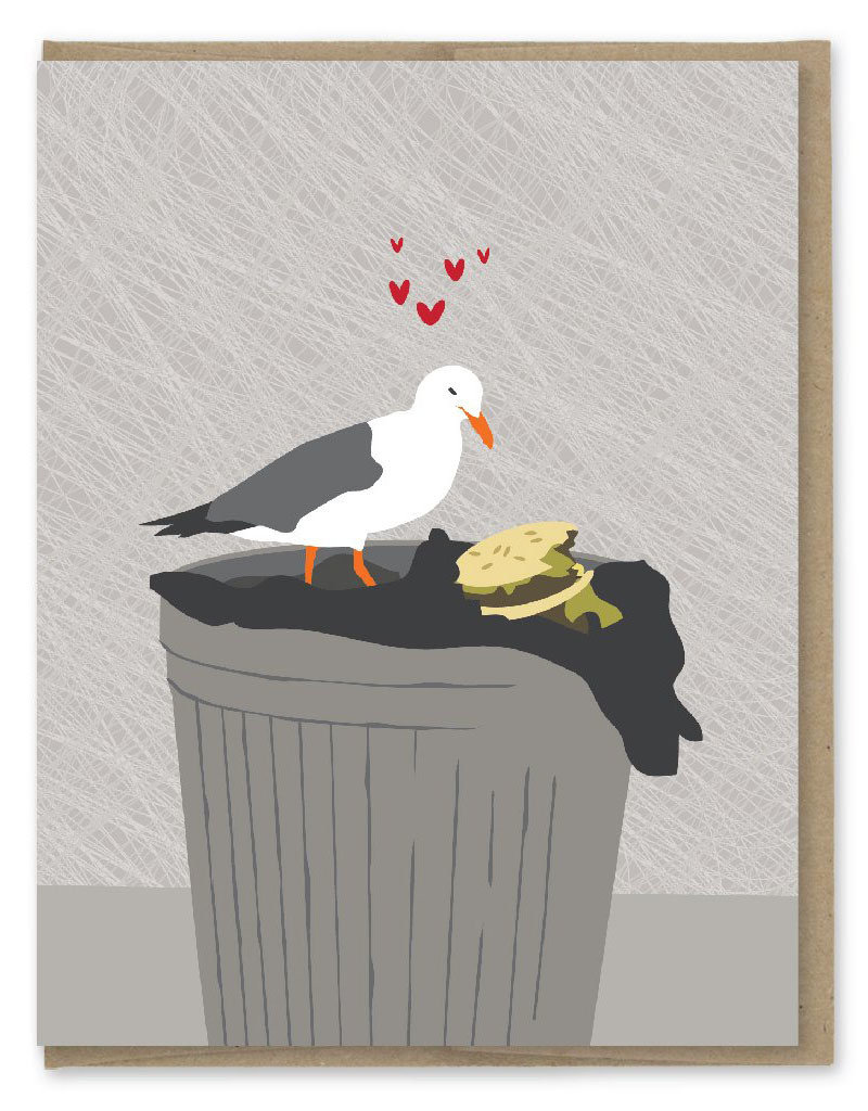 Modern Printed Matter All I Ever Wanted (Seagull) Greeting Card