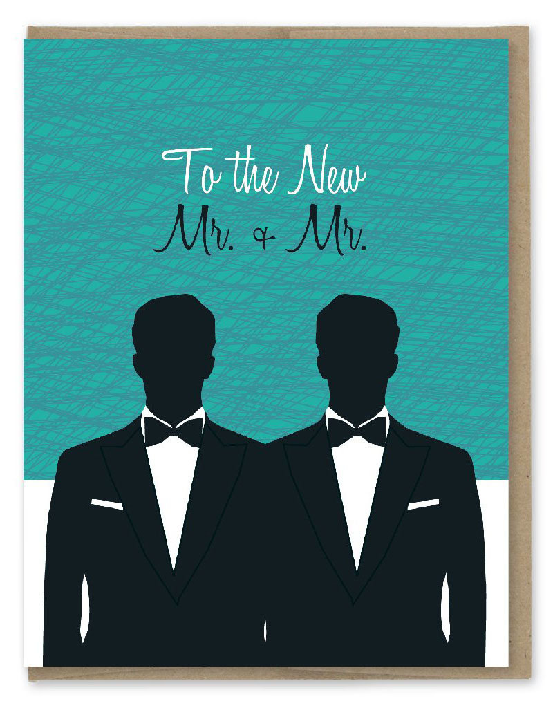 Modern Printed Matter Mr. and Mr. Greeting Card