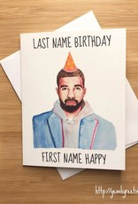 YeaOh Greetings Last Name Birthday First Name Happy Greeting Card