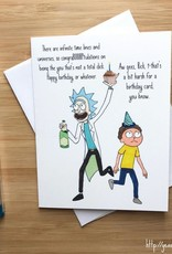 YeaOh Greetings Infinite Timelines (Rick & Morty) Birthday Greeting Card