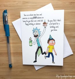 YeaOh Greetings Infinite Timelines (Rick & Morty) Birthday Greeting Card