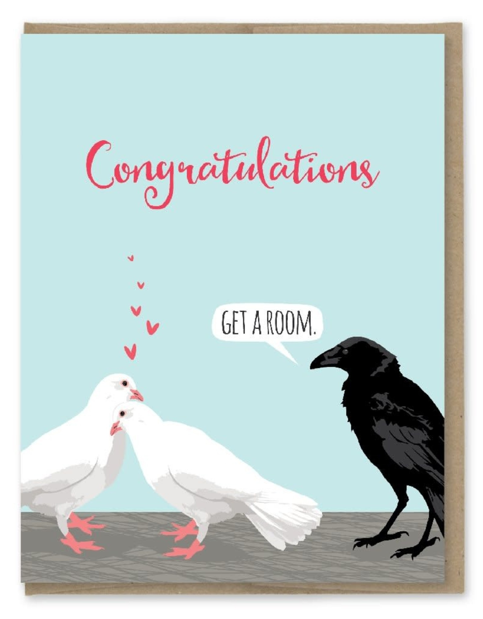Modern Printed Matter Congratulations (Get a Room) Greeting Card