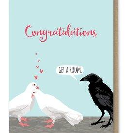 Modern Printed Matter Congratulations (Get a Room) Greeting Card