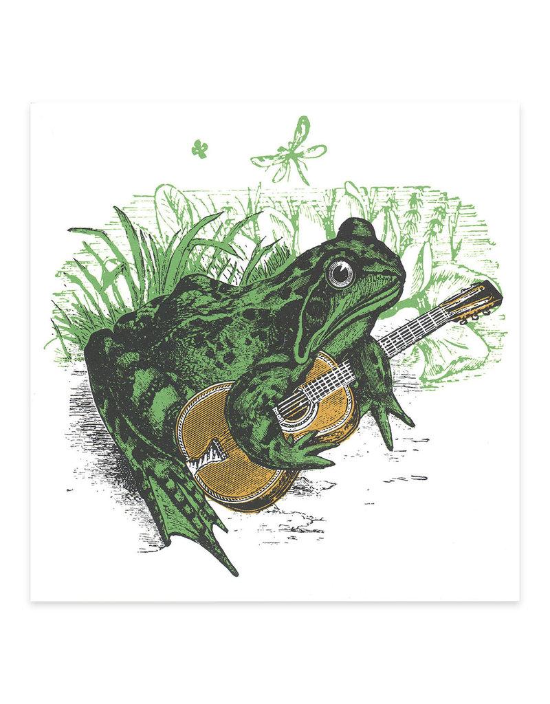 Nate Duval Folksy Frog Print