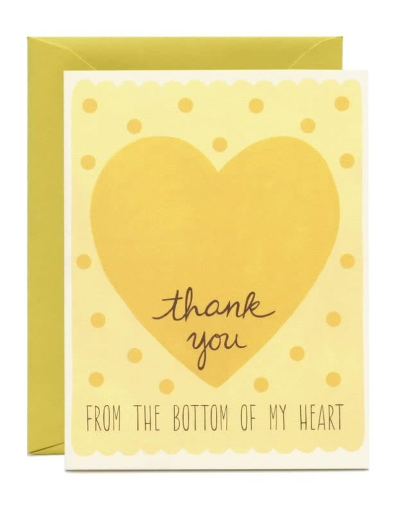 Yeppie Paper Thank You From the Bottom of my Heart Greeting Card