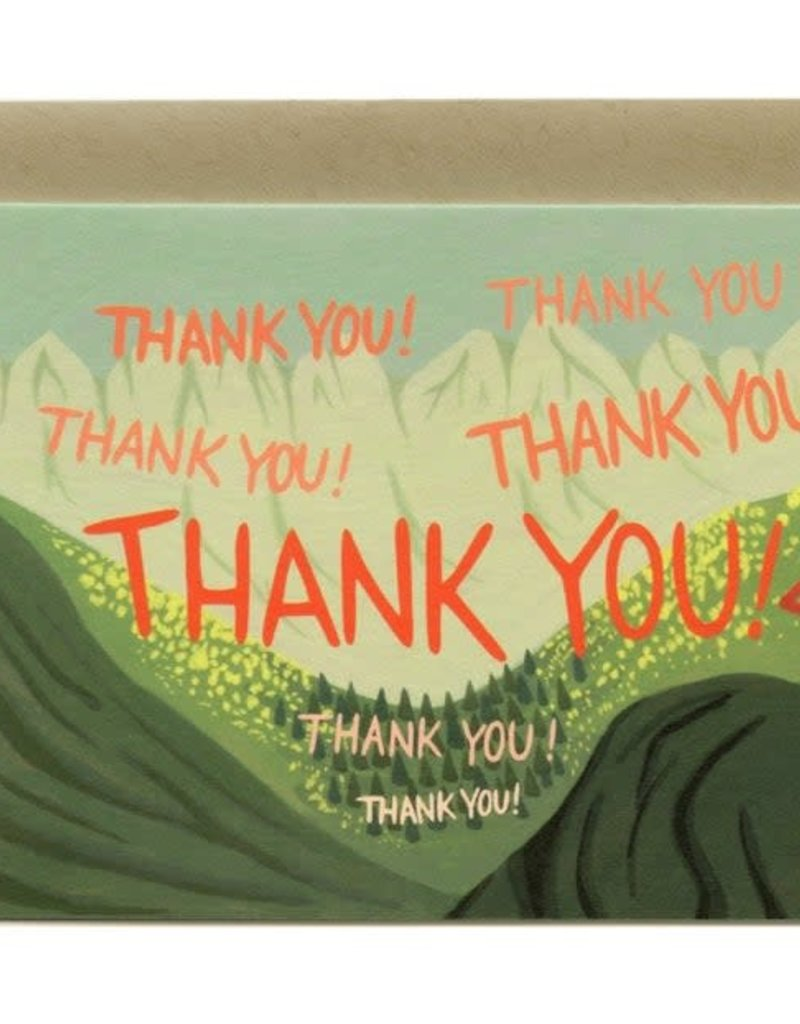 Yeppie Paper Echoing Thank You Greeting Card