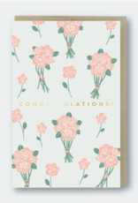 Congratulations! (Flower bunches) Greeting Card