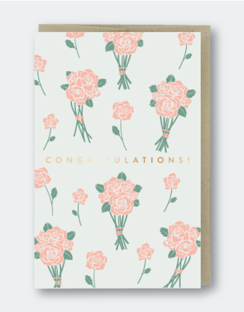 Pike Street Press Congratulations! (Flower bunches) Greeting Card