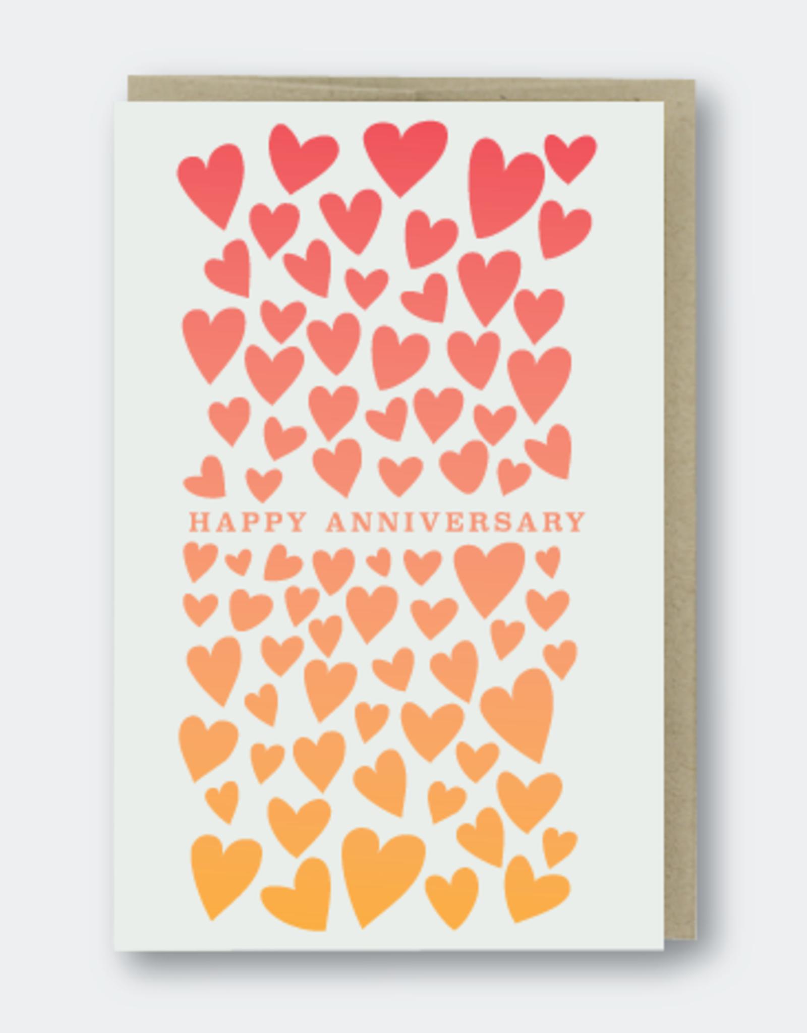 Happy Anniversary (hearts) Greeting Card