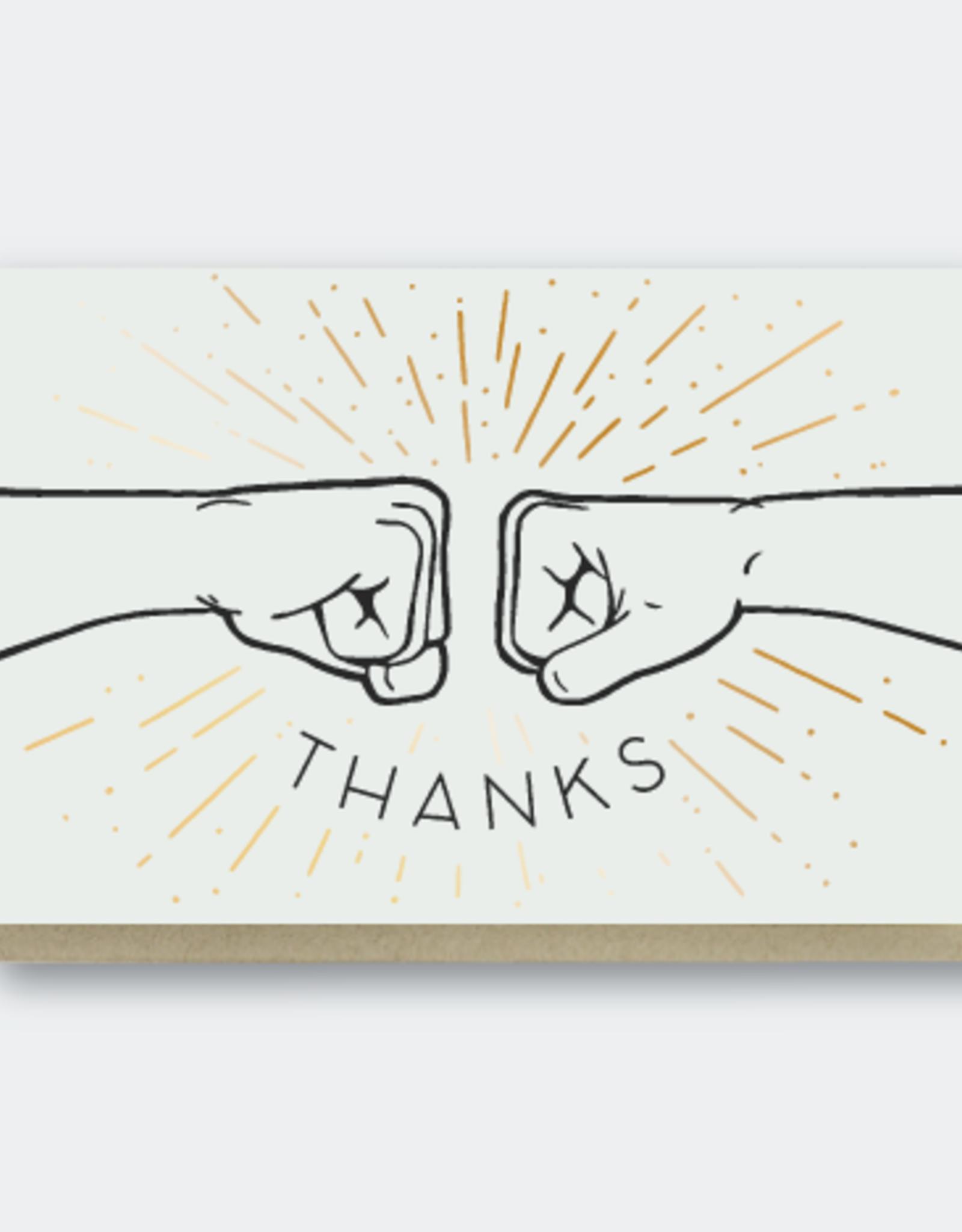 Pike Street Press Thanks (Fist Bump) Greeting Card