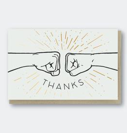 Thanks (Fist Bump) Greeting Card