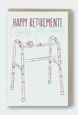 Happy Retirement (walker) Greeting Card