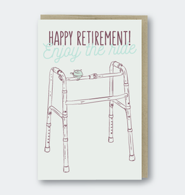 Pike Street Press Happy Retirement (walker) Greeting Card