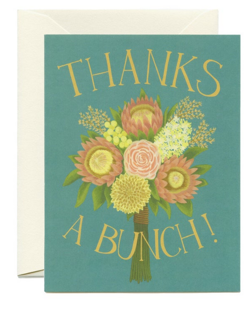 Yeppie Paper Thanks a Bunch Greeting Card