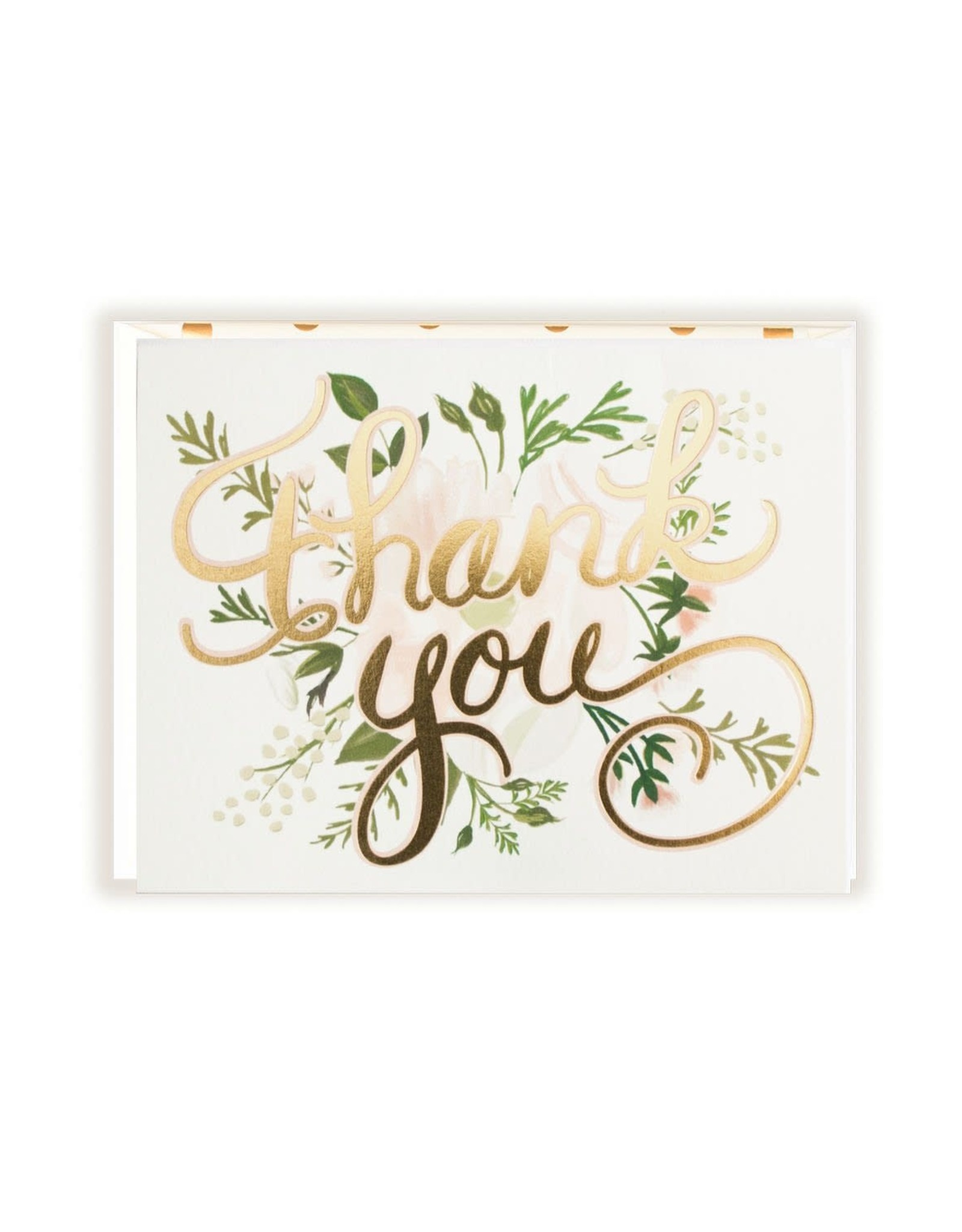 Gold Foil Thank You (Florals) Greeting Card