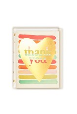 Gold Foil Thank You (Rainbow Heart) Greeting Card