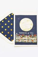 Thinking of You Moon Garden Greeting Card
