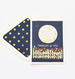The First Snow Thinking of You Moon Garden Greeting Card