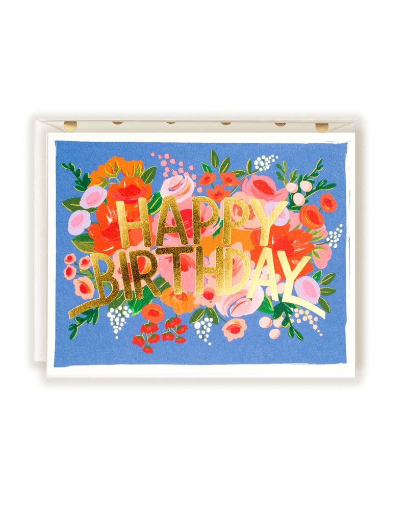 The First Snow Happy Birthday Flower Crown Greeting Card