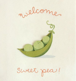 Good Paper Welcome Sweet Pea Greeting Card