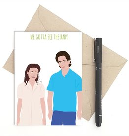 Meet Me in Shermer Gotta See the Baby (Seinfeld) Greeting Card