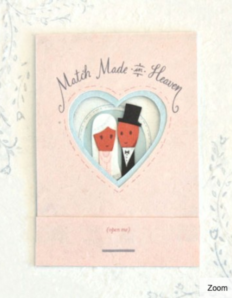 Good Paper Match Made in Heaven Greeting Card
