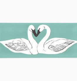 Blackbird Letterpress Perfect Match (Swans) Greeting Card