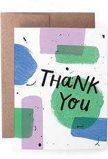 Handzy Shop & Studio Thank You (paint) Greeting Card